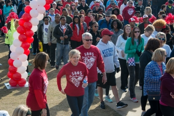 Wallis Spangler, Savannah River Nuclear Solutions Senior Vice President of NNSA Operations and Programs, has a multi-year affiliation with the Central Savannah River Area Heart Walk.