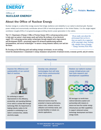 Fact sheet that explains what the Office of Nuclear does.