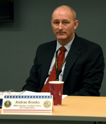 Andrae Brooks, a U.S. Army veteran, works in NNSA's Office of Counterterrorism and Counterproliferation Nuclear Incident Policy and Cooperation