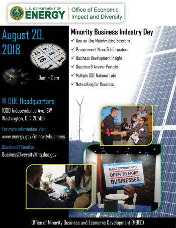 Minority Business Industry Day Flyer