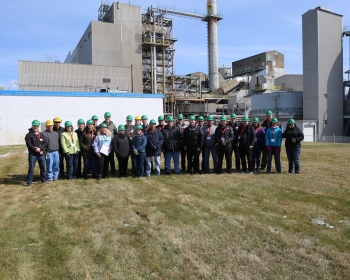 A group of Canadian representatives attended the annual inspection of the Hallam Decommissioned Reactor Site at the Sheldon Power Station in Hallam, Nebraska.