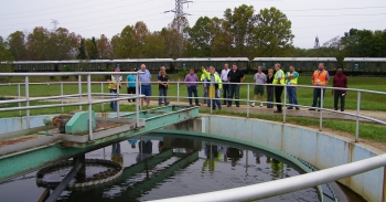 SSAB members tour sewage treatment facility