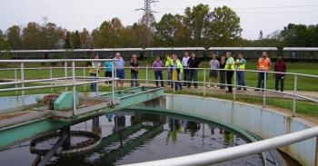 SSAB members tour sewage treatment facility