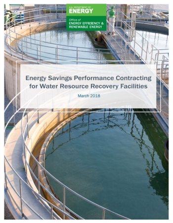 Cover of ESPC guide for water resource recovery.