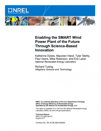Cover of Enabling the SMART Wind Power Plant of the Future Through Science-Based Innovation.