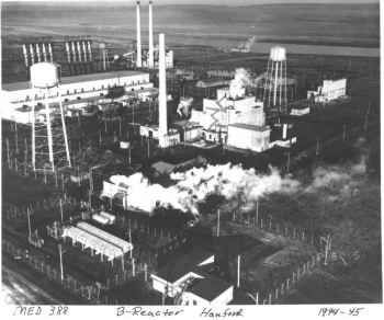 The B Reactor at Hanford was the world's first large-scale nuclear reactor. It produced plutonium for the device tested at the Trinity site in New Mexico on July 16, 1945, and for the bomb that was dropped on Nagasaki, Japan, on August 9, 1945. The B Reac