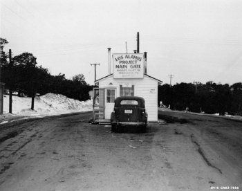 Anyone approaching Los Alamos during the war had to pass through at least two checkpoints.