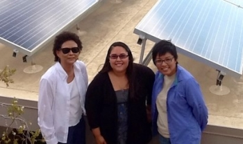 Photo of Chelsea Chee and other 2013 interns.