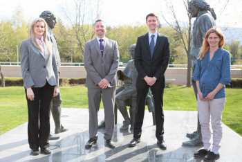 Dan Milstein (second from left) at U.S. Embassy-Sofia with his staff.