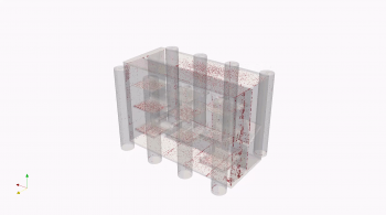 A rendering of a CAD file used for additive manufacturing.