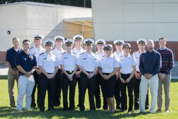 The California State University Maritime Academy team photo