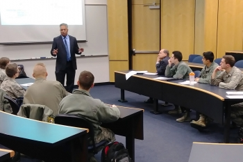 Dr. Kevin Greenaugh lecturing at US Air Force Academy