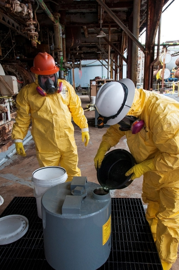 URS | CH2M Oak Ridge crews extract thousands of pounds of mercury from old equipment at the Y-12 National Security Complex, preventing large releases into the environment.