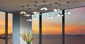 ceiling mounted, hanging oled lighting.