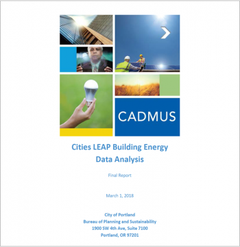 Cities-LEAP Portland Building Energy Analysis