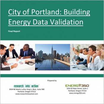 Cities-LEAP Portland subcontractor report by Research into Action