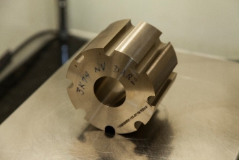 The Y-12 manufactured uranium core piece for KRUSTY experiment.