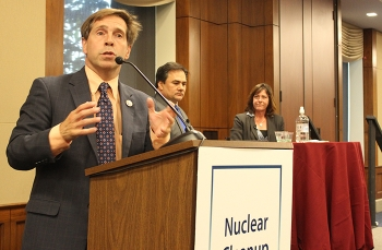 Rep. Chuck Fleishmann of Tennessee, chair of the House Nuclear Cleanup Caucus, speaks at the caucus event.