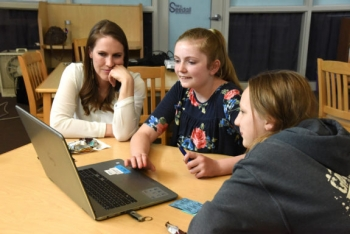 Students from Rocky Mountain Middle School recently participated in the INL pilot of Girls Who Code.
