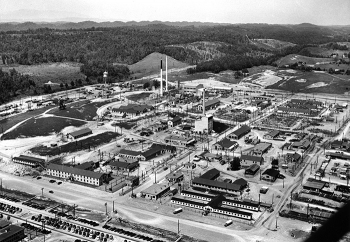 A 1947 view of what would become Oak Ridge National Laboratory.