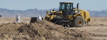 Soil excavation activities at the Clean Slate II site on the Tonopah Test Range.