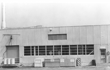 Building H2, shown here in the 1950s, supported research early in the Cold War into chemical separation of plutonium for the nation's strategic defense.