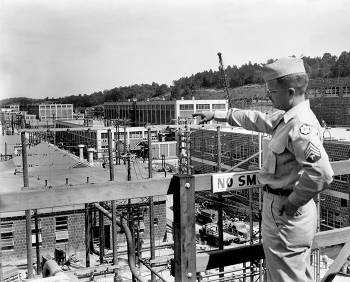 A soldier at the Y-12 National Security Complex in 1944.