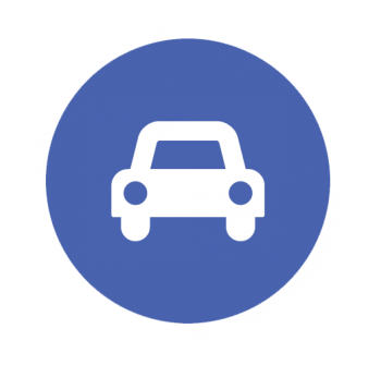Graphic of a car representing fleets.