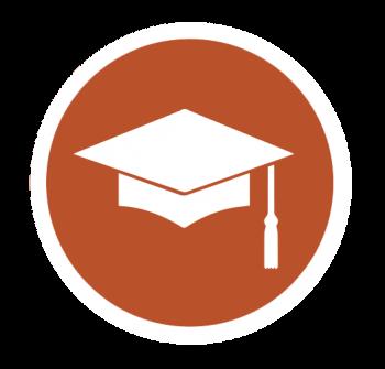 Icon of a graduation cap.
