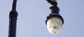 Photo of outdoor street lighting.