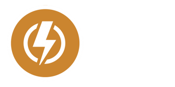 Icon of a lightning bolt with a circle around it.