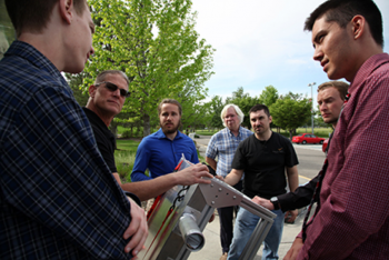 WSU students explain how their equipment design improves the sensitivity of gamma spectroscopy systems in support of atmospheric radionuclide measurement.