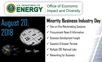 Graphic for the Minority Business Industry Day on August 20, 2018