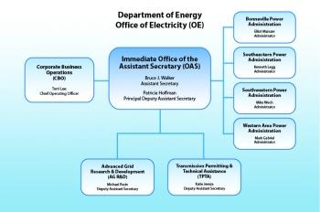 Chart showing OE organization