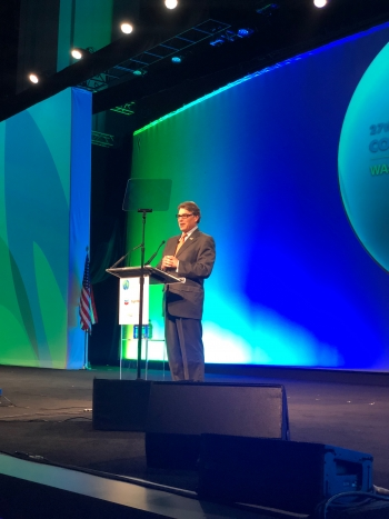 Secretary Perry speaks at the Global Gas Conference