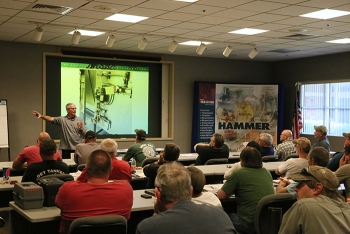 "Kalle Hyrkas, certified safety professional and manager of the ""lockout/tagout"" program at the HAMMER Federal Training Center, provides training for Bonneville Power Administration employees as part of a recent safety workshop."