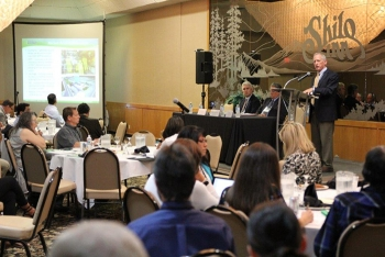 Ken Picha, EM acting Associate Principal Deputy Assistant Secretary for Field Operations, speaks at the State and Tribal Government Working Group and National Governors Association's Federal Facilities Task Force joint annual meeting.