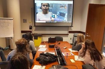 High-School Students Studying Carbon-Based Nanomaterials for Cancer Drug Delivery Visit Brookhaven Lab's Nanocenter