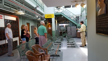 ORSSAB members tour the graphite reactor at ORNL