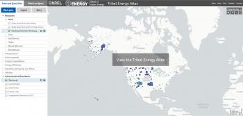 Screenshot of the user-friendly Tribal Energy Atlas tool