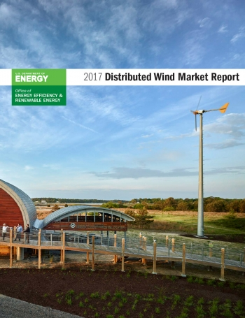 Cover of the 2017 Distributed Wind Market Report.