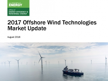 Cover of the 2017 Offshore Wind Technologies Market Update.