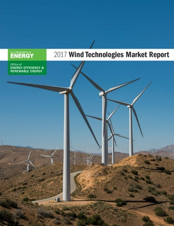 Cover of the 2017 Wind Technologies Market Report.