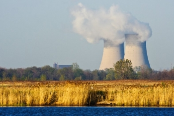 stock photo of a nuclear power plant