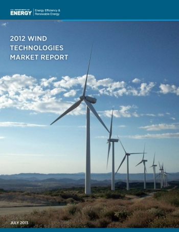 Cover of the 2012 Wind Technologies Market Report.