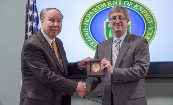 Roland Frenck and NNSA Associate Administrator for Acquisition & Project Management Robert B. Raines