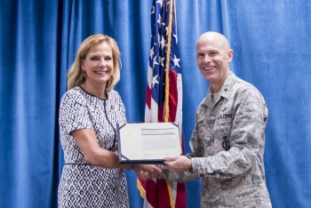 Brig. Gen. Michael Lutton and NNSA Administrator Lisa E. Gordon-Hagerty