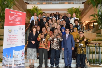 Asia Pacific Island officials signal their approval at a July workshop where they joined safeguards experts from the U.S., Indonesia, Singapore, and the IAEA in Jakarta.