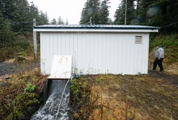 Photo of Ouzinkie's hydro plant.