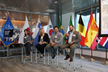 Panelists discuss careers in nuclear at the Camden, NJ event